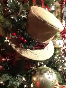 raz burlap top hat christmas decoration