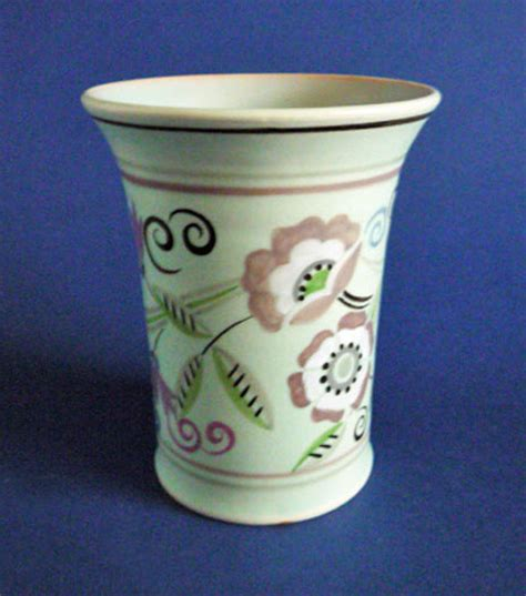 White Vase Rare Poole Pottery Th Pattern Vase By Truda Carter C1935
