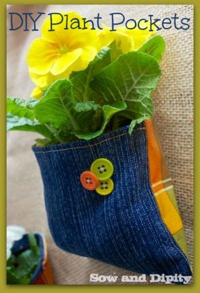 diy vertical garden pockets diy plant pockets with recycled denim recycled denim