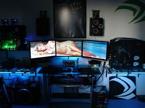 furniture cool computer setups and gaming setups and best 20 cool computer desks ideas on pinterest gaming