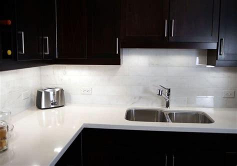 quartz tile backsplash a wonderful pairing gleaming white quartz countertops and carrara marble tile backsplash