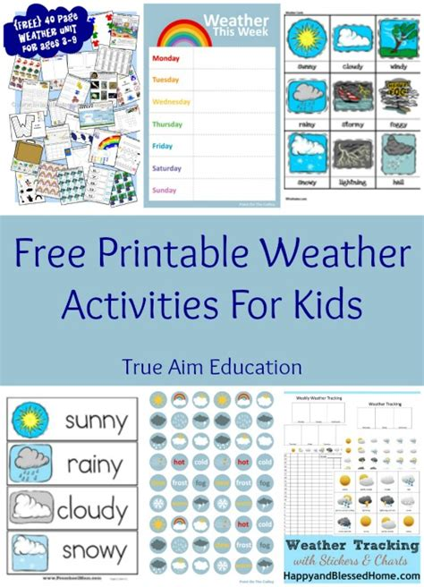 free printable weather activities for true aim