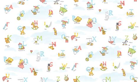 Wall Mural Stickers alphabet pattern self adhesive wallpapers for kids rooms