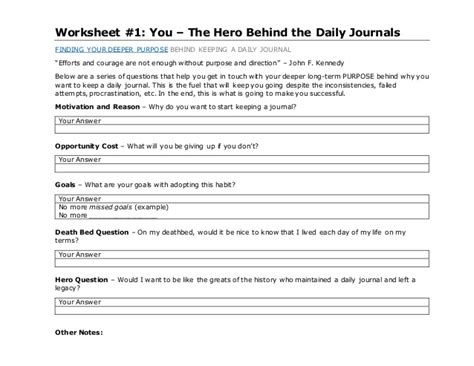Daily Journal Template Download Jawwad Siddiqui Daily Journal Template