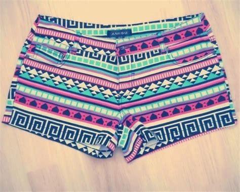 cute pattern pants shorts tribal pattern tribal shorts pants short aztec