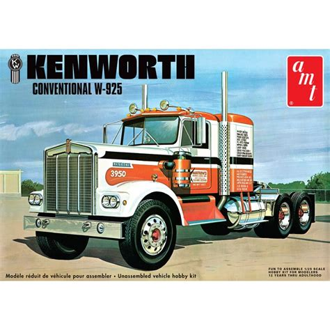 w model kenworth parts amt 1 25 kenworth conventional w 925 model kit 1021 up
