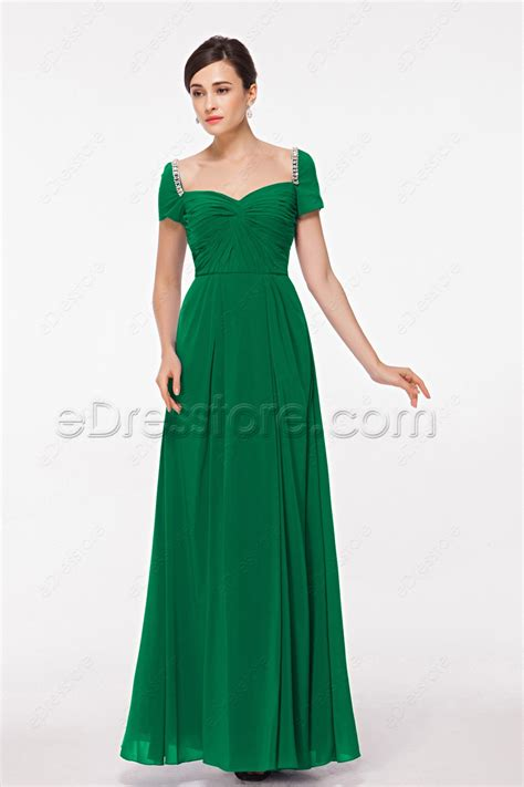 green cocktail dresses with sleeves modest emerald green evening dress with sleeves