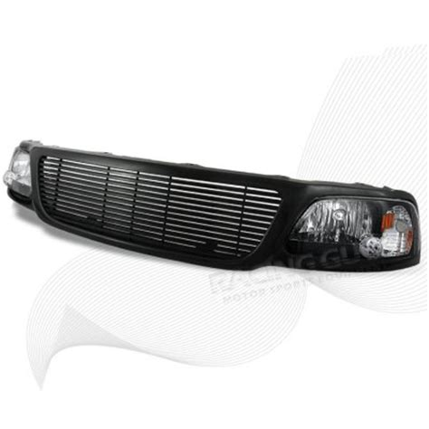 ford f150 1999 2003 black billet grille and black euro
