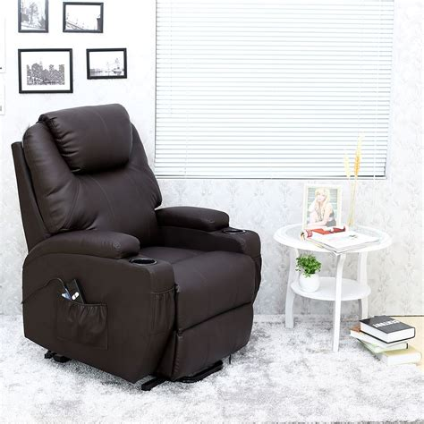 heated armchair cinemo elecrtic rise recliner leather masseage heat