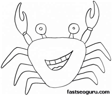 printable ocean animal templates printable sea animal crab coloring pages printable