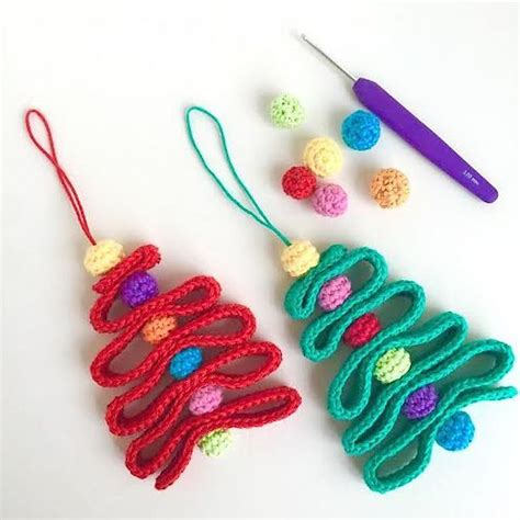 crochet pattern christmas tree ornament 12 cute free christmas ornament crochet patterns