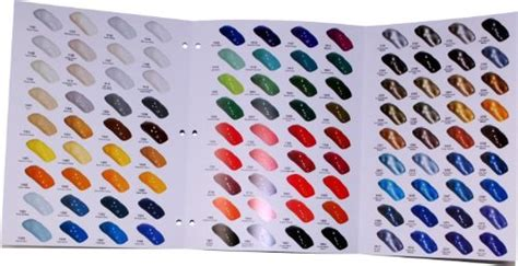 color match auto paint restoration shop 144 color chart auto car paint chips