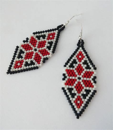 bead embroidery patterns free ukrainian national pattern ethnic earrings with ukrainian