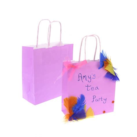 Pink Craft Paper - pink kraft paper bag bags from crafty crocodiles uk