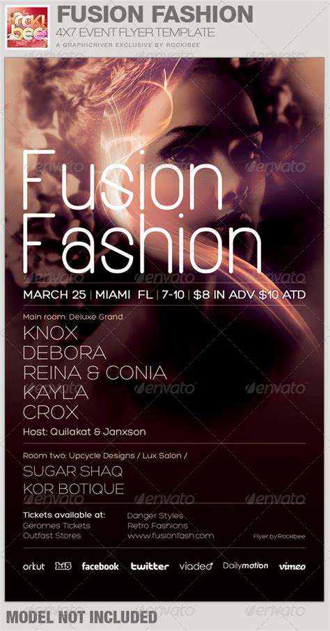 templates for fashion show flyers fusion fashion event flyer template by rockibee graphicriver