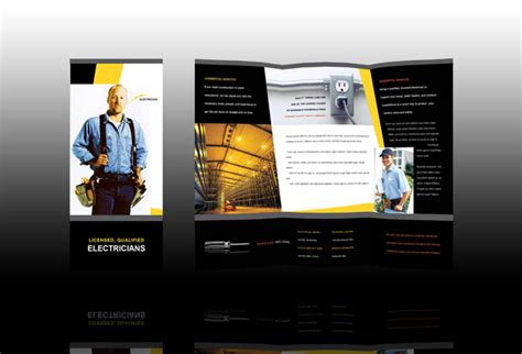 brochure templates electrical electrician brochure