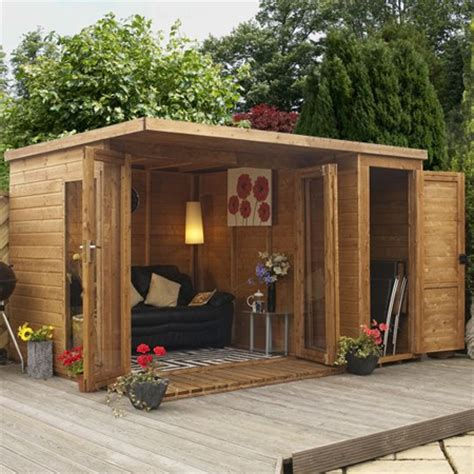 building an outdoor room home dzine garden a garden shed hut or wendy house