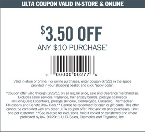 ulta printable coupon dealigg fast food sles coupons sles and templates