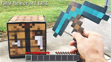 How To Make A Minecraft Pickaxe Out Of Paper - real minecraft how to make a pickaxe