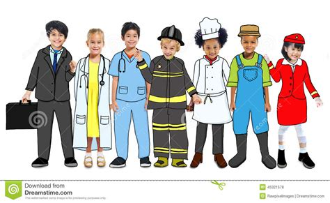 school multiethnic girls different uniform uniform clipart career person pencil and in color