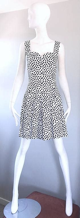 Sale Atasan Wanita Polka Eye Navy Blue givenchy couture by mcqueen navy blue white vintage polka dot dress for sale at 1stdibs