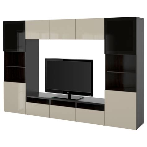 ikea besta combination best 197 tv storage combination glass doors black brown