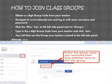 edmodo how to join a group ppt edmodo how to s powerpoint presentation id 1844114