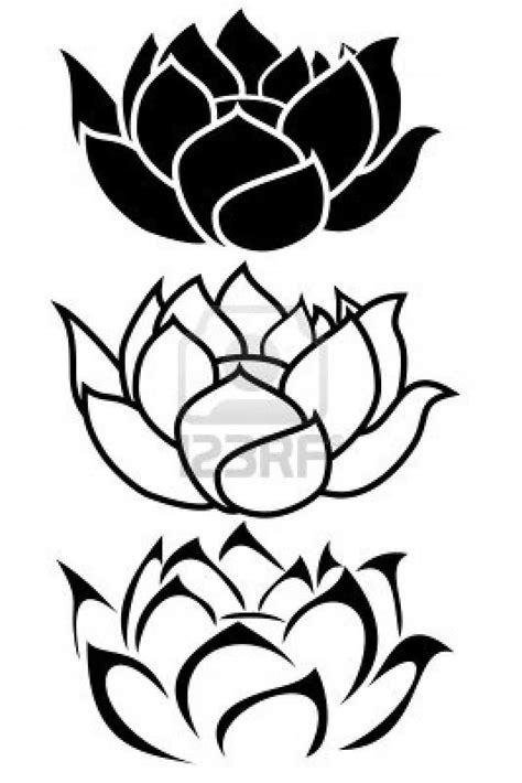 black and white lotus flower tattoo 33 lotus stencils designs
