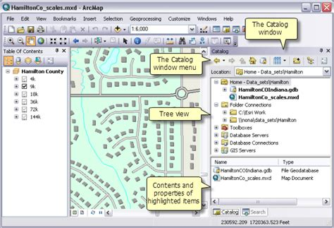 map layout in arcgis 10 what is the catalog window help arcgis for desktop