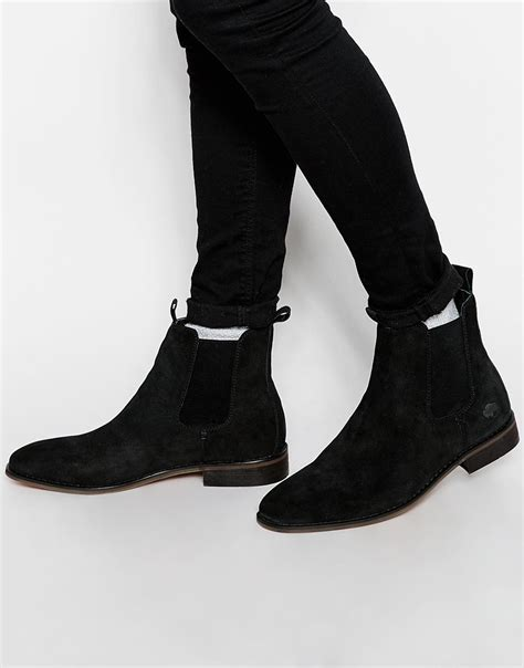 chelsea boots black suede bellfield suede chelsea boots in black for lyst