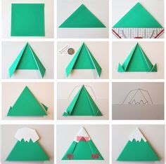 How To Make A Paper Mountain Out Of Construction Paper - 1000 images about origami on origami