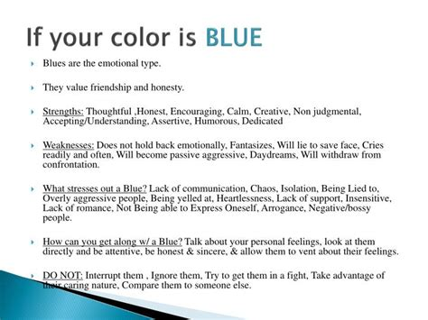 true colors personality test ppt true colors personality test powerpoint presentation