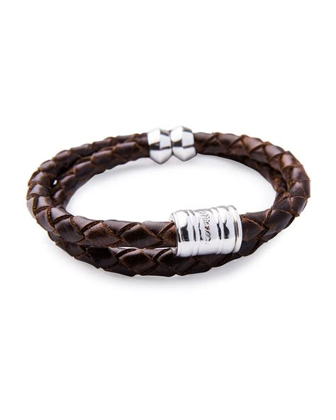 Woven Leather Bangle by Lyst Miansai S Woven Leather Bracelet In Brown For