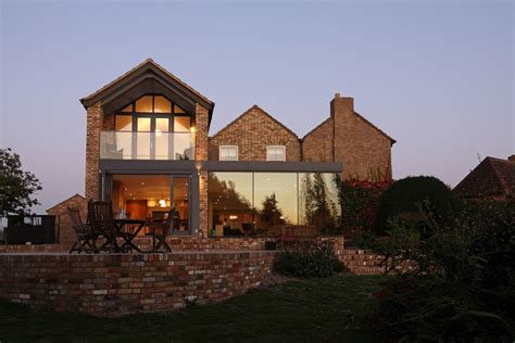 modern traditional homes modern glass addition to otherwise traditional home
