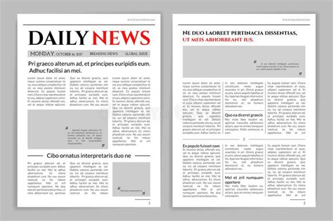 newspaper layout vector newspaper template design stock vector illustration of