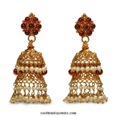 jhumka gold earrings pictures to pin on pinterest tattooskid