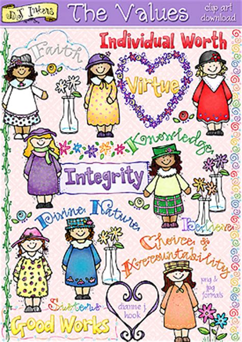 lds young women borders clipart