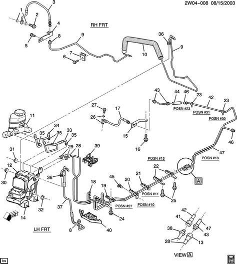 brake line diagram 2002 pontiac grand prix diagram of brake lines