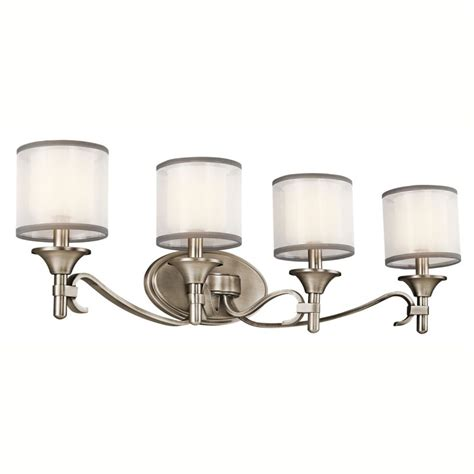4 bulb bathroom light fixtures kichler 45284ap antique pewter lacey 31 quot wide 4 bulb