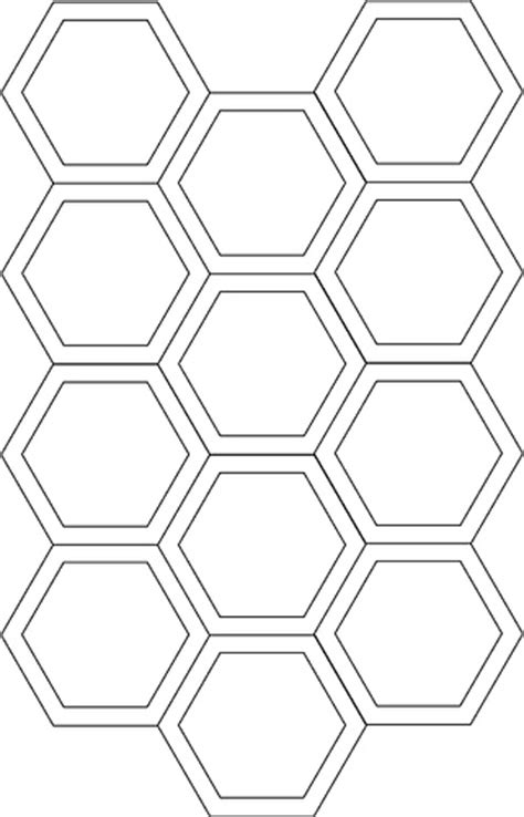 hexagon cutting template template for cutting fabric for