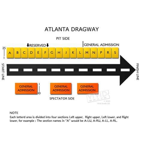 map of atlanta dragway atlanta dragway seating chart seats