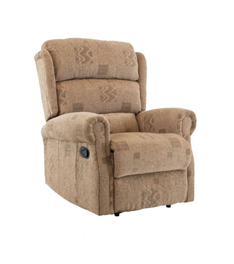 Cloth Recliners by Birlea Manhattan Manual Wheat Fabric Recliner