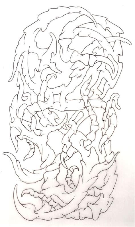 Biomechanical Tattoo Line Drawing | biomechanical tattoo line drawings sketch coloring page