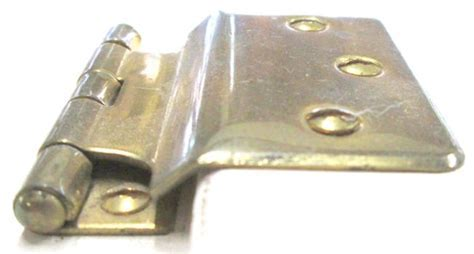 Antique Stamped Brass Sellers Style Fold Back Cabinet Hinge