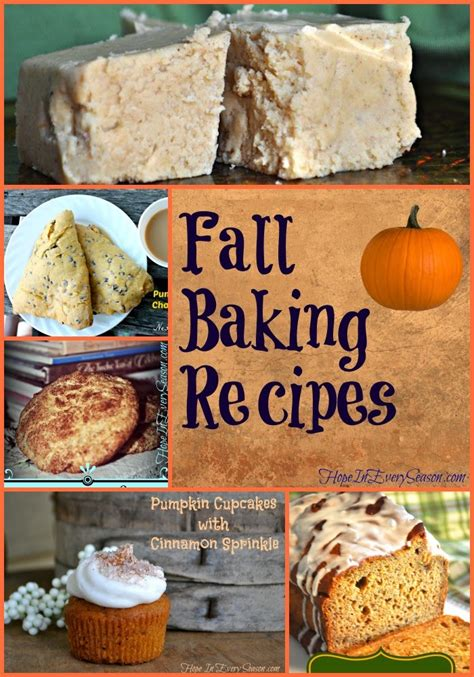 hope in every season fall baking recipes
