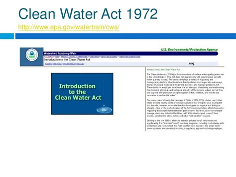 clean water act section 319 water pollution and treatment ppt