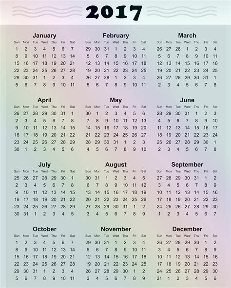 2017 Calendar Printable Calendar 2017 Printable Calendars Of 2017 For Free