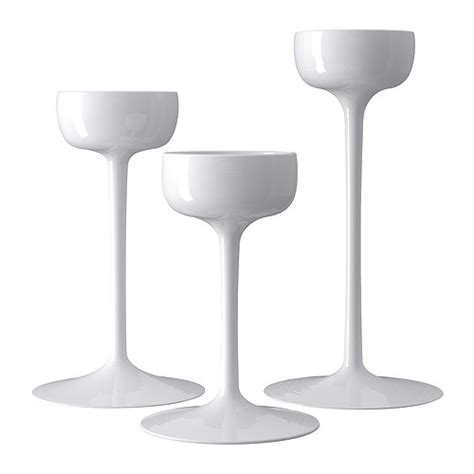 White Candle Holder Set Blomster Candle Holder Set Of 3 Ikea