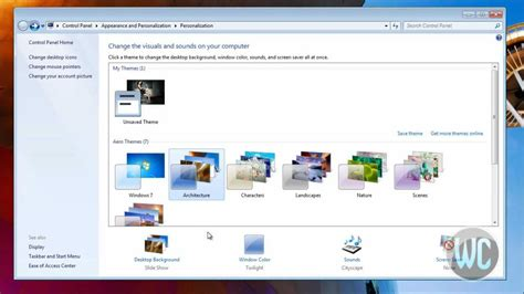 windows 7 themes change pictures windows 7 change desktop background youtube