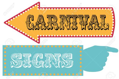 carnival sign template free directional arrow signs clipart 56
